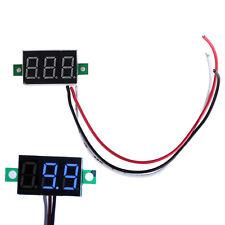 DC 0-30V 3 Wire Blue LED Display Digital Voltage Voltmeter Panel Car Motorcycle