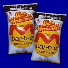 MIDDLESWARTH BBQ POTATO CHIPS WEEKENDER  CLASSIC 10 OZ 2 BAGS