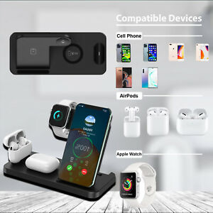Charging Stand 4 in 1 Wireless Charging Station For Air Pods Apple Watch iPhone