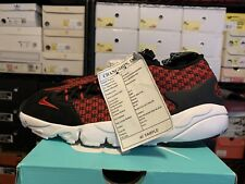 NIKE AIR FOOTSCAPE MOTION SAMPLE US 9 UNRELEASED BLACK RED PROMO RARE
