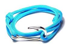Nautical Fish Hook Bracelet Hand Made Men Women Fashion Jewelry Adjustable