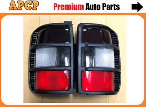 Tail Light Lamp Set For Mitsubishi Pajero NL Black Rim Smoked lens [98-00] Pair