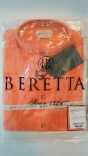 Beretta LU20756125S TM Shooting Shirt, Short Sleeve, Orange, Small