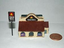 Taco Bell Z Scale resin kit 1:220 model train restaurant fast food building