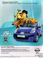 Publicité advertising 2006 Nissan Note Age de Glace 2