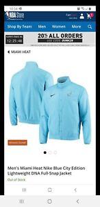 Nike 2020 Miami Heat Edition 2.0 Lightweight DNA Full-Snap Jacket