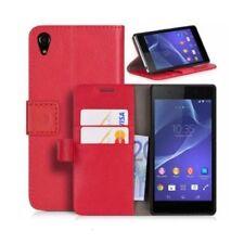 Fundas y carcasas liso de color principal rojo para teléfonos móviles y PDAs Sony