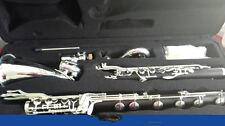 (Low C ) Bass Clarinet Bb Key Grenadilla,Ebony wood Body,Keys silver plated