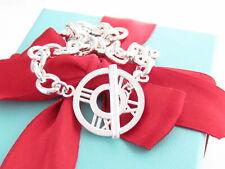"""Tiffany & Co Silver Atlas Toggle Link Bracelet 7.5"""""""