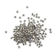 100X TIBETAN SILVER STAR METAL SPACER BEADS~6mm~FIT NECKLACE BRACELET CHARMS