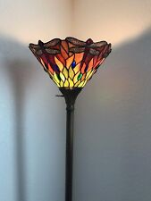 Antique Tiffany Glass Standing Lamp