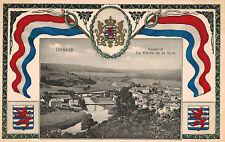 Diekirch,Luxembourg,Sauertal La Vallee de la Sure,Flag,Crest,Shield,c.1909