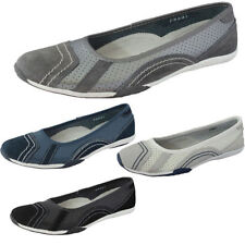 Patternless 100% Leather Ballet Flats for Women