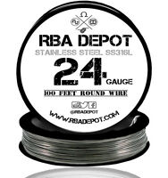 RBA Depot Stainless Steel SS 316L Competition Resistance Wire 24 Gauge AWG 100ft