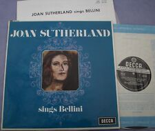 SXL 6192 JOAN SUTHERLAND SINGS BELLINI UK Decca WIDE BAND NEAR MINT Opera
