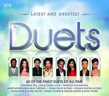 DUETS-LATEST & GREATEST Paige, Elaine, Cher, Gaye Marvin 3 CD NEW!