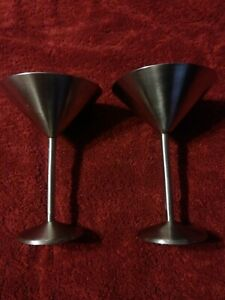 Stainless Steel Martini Glass