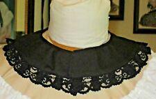 Civil War Dress Victorian Accessories Lady'S 100% Cotton Jett Black Collar