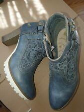 Mustang Pumps HALBSCHUHE Echtleder/ Textil  blau Gr.38