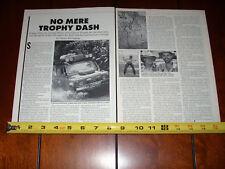 LAND ROVER CAMEL TROPHY BORNEO - ORIGINAL 1993 ARTICLE