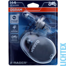 H4 OSRAM X-Racer - Stylischer Xenon Look 4200K 20% mehr Licht - DUO-Pack-Box
