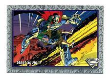 Skybox 1993 The Return of Superman Base Card #16 Steel Savior!