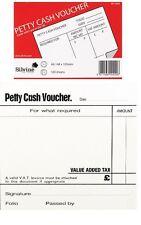 QUALITY PAPER PETTY CASH VOUCHER SLIP FORM BOOK PAD WHITE 100 PAGES SHEETS 4008