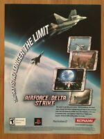 AirForce Delta Strike PS2 2004 Vintage Poster Ad Art Print Official Promo Konami