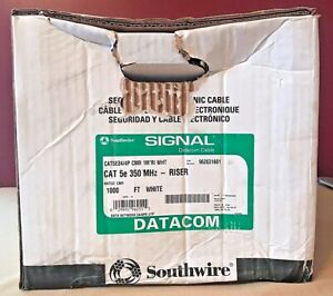 Southwire Cat 5e 24/4 AWG Riser Ethernet Cable 962631601 1000 FT NEW