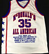 PAUL PIERCE Signed McDonald's HS All-American Stat Jersey PSA/DNA Witness COA