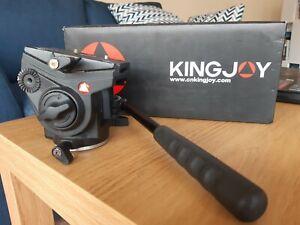 Kingjoy pan/tilt video head VT 3150 with 1/4 & 3/8 inch screw thread