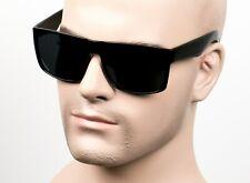 Large Square Cholo Sunglasses Super Dark OG LOC Style Gangster Black/Matte 13SD