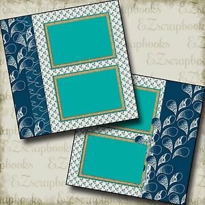 SPLASH - 2 Premade Scrapbook Pages - EZ Layout 2074