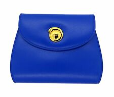 Brand New Cartier Panthere Blue Leather Women's 6 Credit Card Wallet