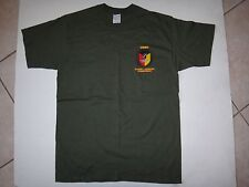 New USMC 9th COMMUNICATION BN Green OD Cotton T-Shirt With Label, Size Large