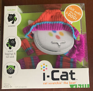 I-Cat cat scratchin' the beat Chill OUTFIT-sweater/scarf/leggings/tail sock/hat