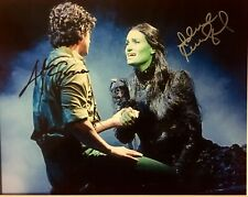 WICKED: Idina Manzel & Adam Garcia Autographed 8x10 Stage Photo Signed in Person