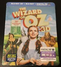 THE WIZARD OF OZ 3D & 2D Blu-Ray SteelBook /Metal Pack 75th  Best Buy Exclusive.