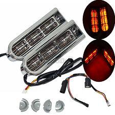 Chrome Accent Saddlebag Filler Support LED Insert Light For Harley Touring 14-17