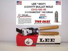 90371 * LEE 2-CAVITY BULLET MOLD * C312-185-1R * .312 DIAMETER * 185 GRAIN