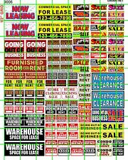9006 DAVE'S DECALS HO BUSINESS FOR LEASE CLEARANCE STORE WAREHOUSE RENT SIGN