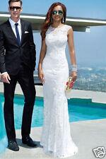 New White ivory Wedding dress Bridal Gown custom size 4 6 8 10 12 14 16 18+++