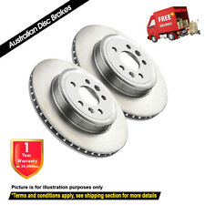 DIMPLED SLOTTED FRONT DISC BRAKE ROTORS+PADS for Ford Courier 2WD PE PG 1999-04
