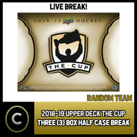 2018-19 UPPER DECK THE CUP 3 BOX (HALF CASE) BREAK #H527 - RANDOM TEAMS
