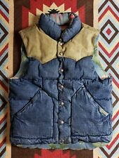 Ralph Lauren Polo PRL RRL Denim Leather Reversible Vest