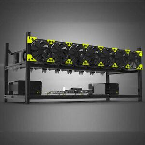 Veddha V3C 8 GPU Open Air Mining Frame Stackable Rig Case Ethereum BTC LTC