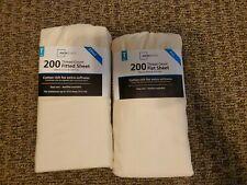 Mainstays twin 200 Thread Count Flat Sheet Tan