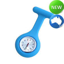 Nurse Silicone FOB Watch with Date Function - Cyan