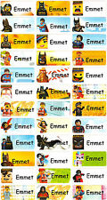Personalized Waterproof Name labels stickers, 36 Lego , day care, school, summer