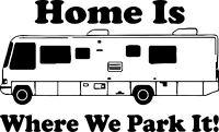 Camping RV Camper Home Park Car Truck Window Wall Laptop Vinyl Decal Sticker